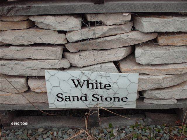 White Sand Stone...$265  pallet, $195 half pallet