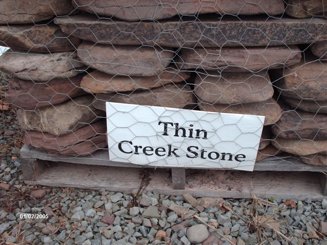 Thin Creek Stone...$235 pallet, $190 half pallet