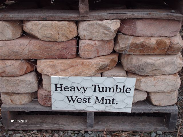 We deliver pallets of this heavy tumble West Mt. Wall Stone.