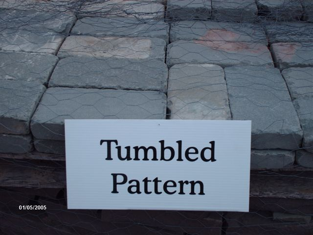 We deliver pallets of Tumbled Pattern.