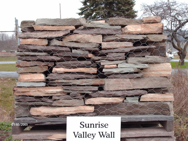 We deliver pallets of this Sunrise Valley Wallstone.