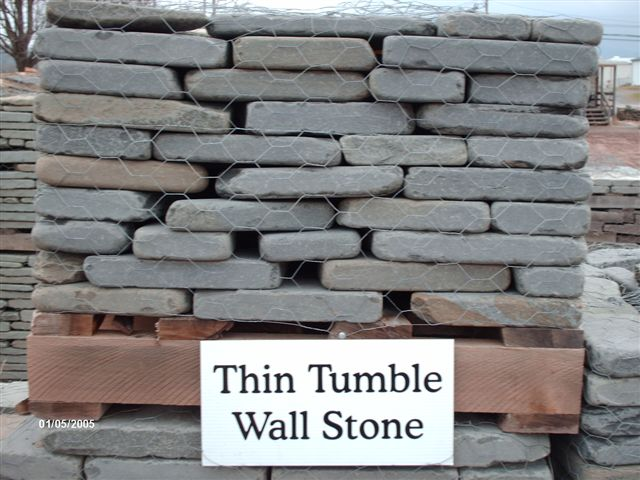 We deliver pallets of this thin tumble wallstone.