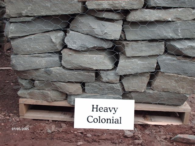 We deliver pallets of this heavy colonial wallstone.