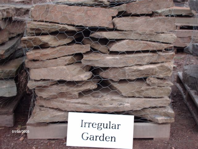 We deliver pallets of this irregular Garden Steppers.