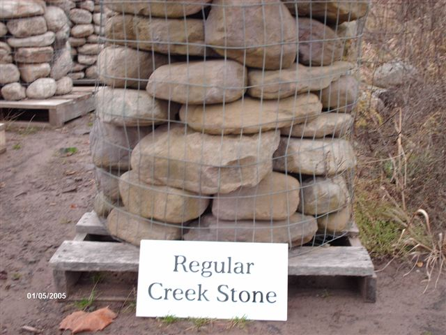 We deliver pallets of this regular creekstone.