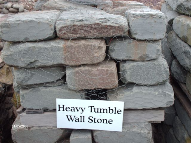 We deliver pallets of this heavy tumble wallstone.