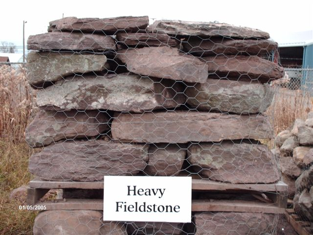 We deliver pallets of this heavy fieldstone.