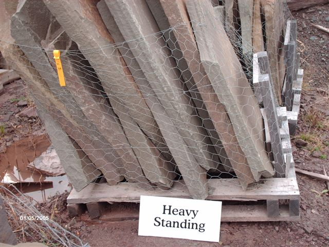 We deliver pallets of this heavy standing irregular.